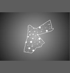 Wireframe mesh polygonal jordan map abstract vector