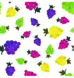 grapes background painted pattern vector image vector image