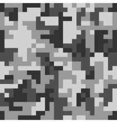 Pixel camo seamless pattern grey urban camouflage vector