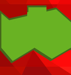 red and green banner templates vector image vector image