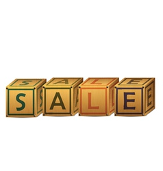 sale alphabet letter boxes vector image vector image
