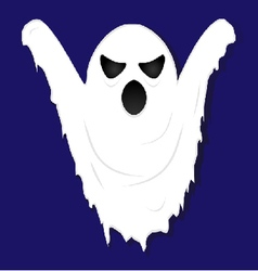 terrible gloomy ghost on striped background vector image