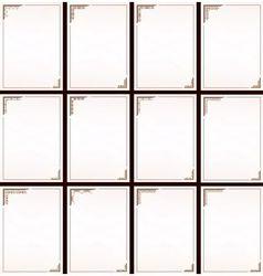 vintage border frame set vector image vector image