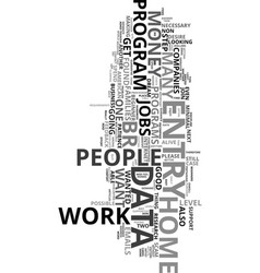 work at home data entry jobs text word cloud vector image