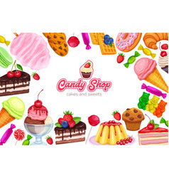 confectionery and sweets vector image vector image