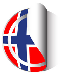 flag icon design for norway vector image vector image