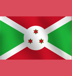 flag of burundi - vector image