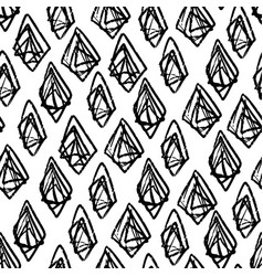 ink hand drawn abstract diamonds seamless pattern vector image vector image