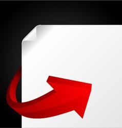 red graph arrow vector image vector image
