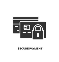 secure payment icon vector image vector image