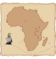 stylised old africa map vector image vector image