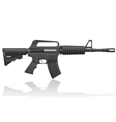automatic machine M 16 02 vector image vector image