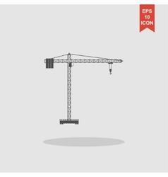 Crane icon Flat design style vector image vector image