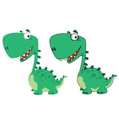 dino cartoon cute vector image vector image