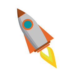 Spaceship rocket cartoon vector