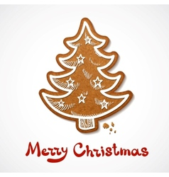 Gingerbread cookie vector image vector image