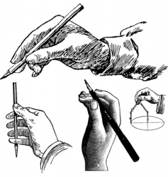 hands drawing vector image