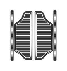 Retro old west saloon doors Black icon logo vector image