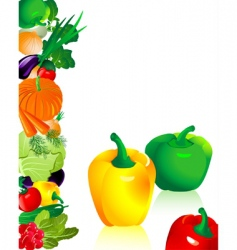 vegetables pepper vector image vector image