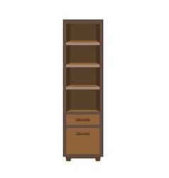 Wooden dark closet vector