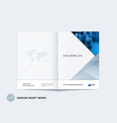 abstract double-page brochure material design vector image