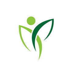 Abstract human icon nature care symbol vector