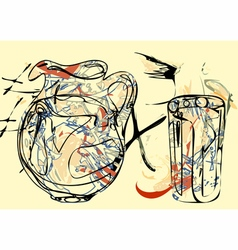 Abstract pitcher vector