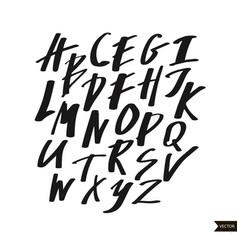 alphabet letters calligraphic script vector image
