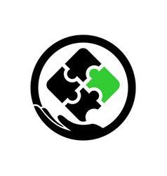 Autism care logo template vector