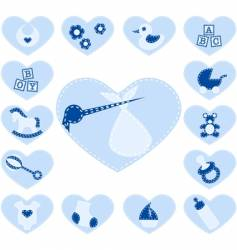 Baboy buttons vector
