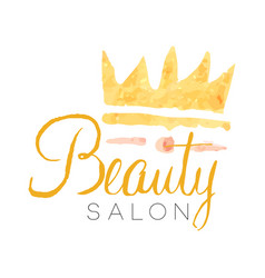 Beauty salon delicate golden logo design with vector
