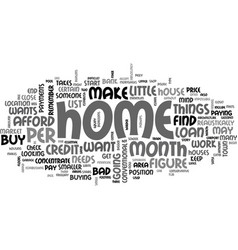 before you co sign for a loan text word cloud vector image