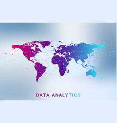 big data analytics and business intelligence vector image