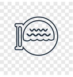 boat porthole concept linear icon isolated on vector image
