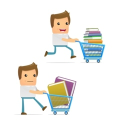 book shopping vector image
