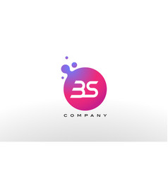 Bs letter dots logo design with creative trendy vector
