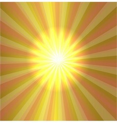 Burst stars light descending on yellow background vector
