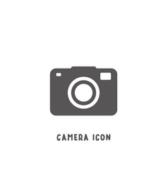 camera icon simple flat style vector image