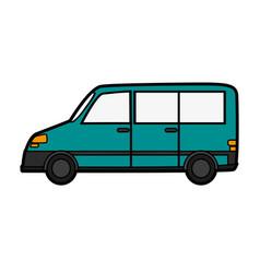 Car van sideview cartoon icon imag vector