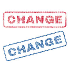 Change textile stamps vector
