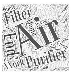 Cheap Air Filters versus High End Air Filters Word vector image