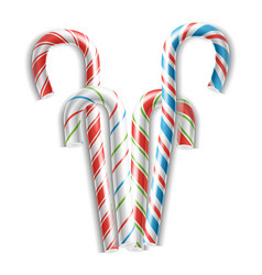 classic candy cane 3d realistic christmas vector image