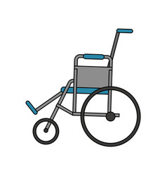 Color image cartoon wheel chair medical vector