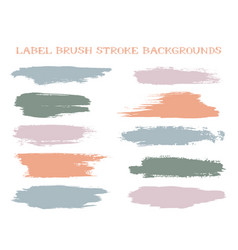 colored label brush stroke backgrounds vector image