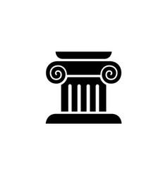 Column capital icon logo simple flat style sign vector