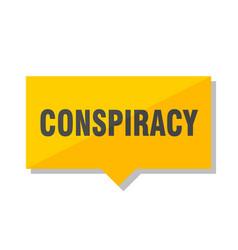 Conspiracy price tag vector