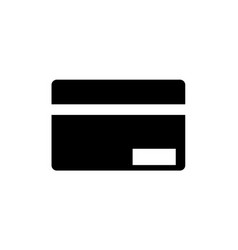 credit card icon in flat style icon for apps and vector image