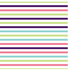 cute multi colored horizontal striped pattern vector image