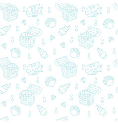 cute seamless pattern with a treasure chest vector image