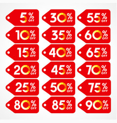 Discount red vector